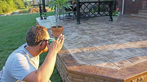 Stamped concrete contractors in Oakland County, Michigan