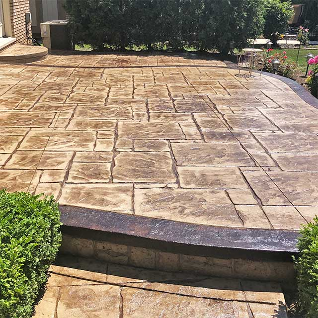 Stamped Concrete patio contractor in Beverly Hills, Michigan